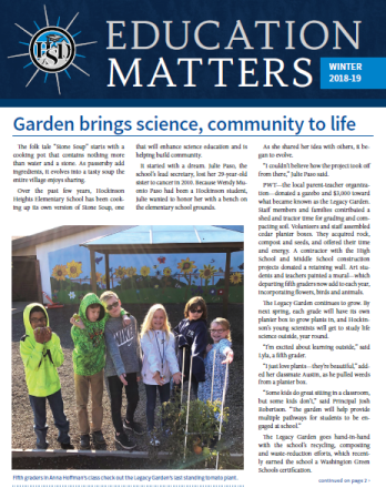 HSD newsletter/annual report-page 1